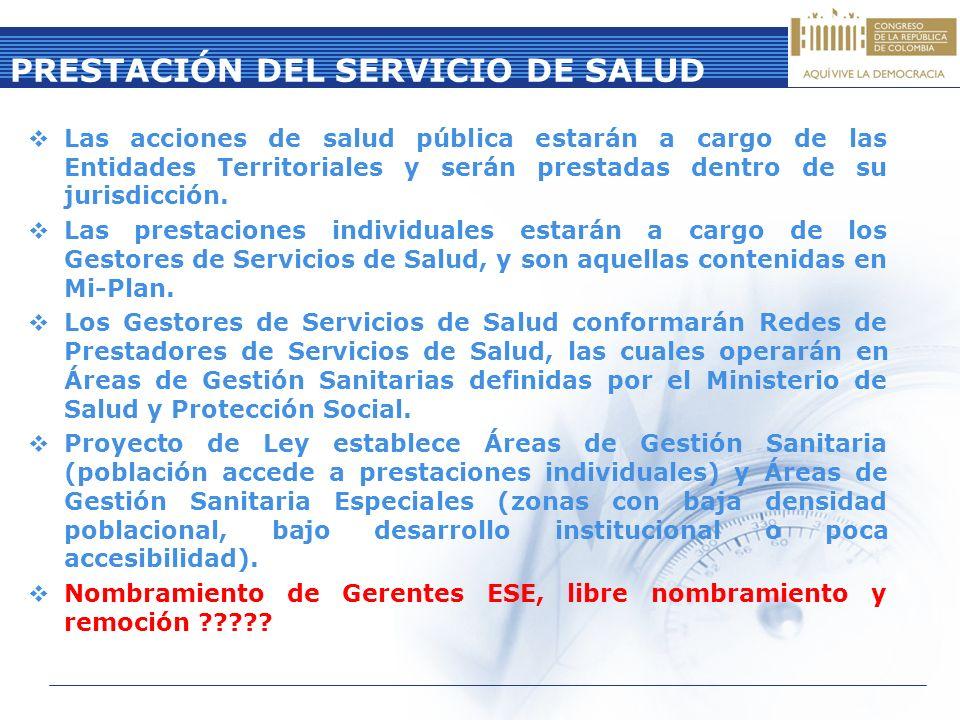 PRESTACIÓN DEL SERVICIO DE SALUD