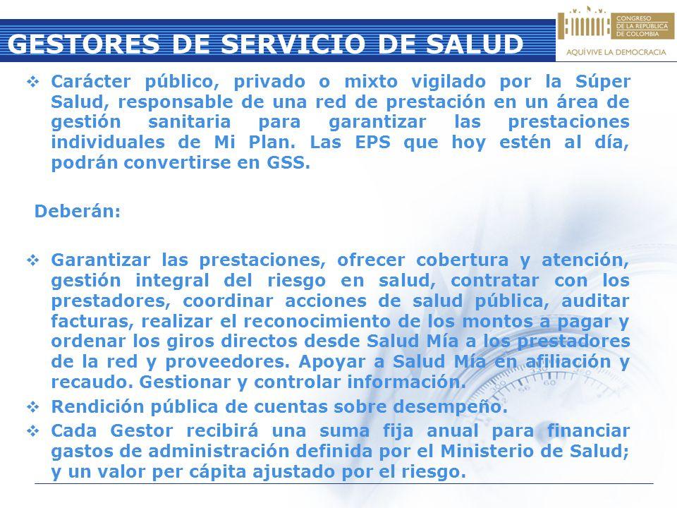 GESTORES DE SERVICIO DE SALUD