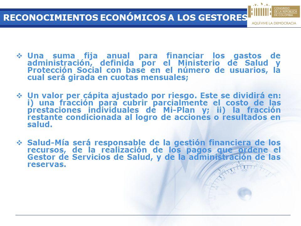 RECONOCIMIENTOS ECONÓMICOS A LOS GESTORES