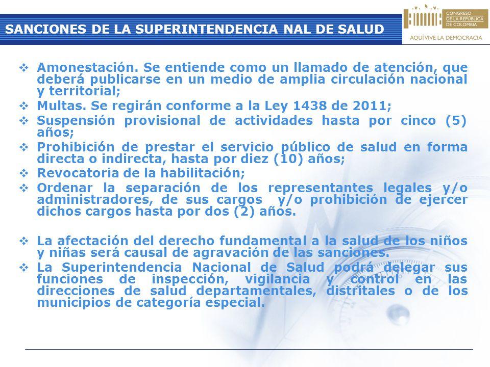 SANCIONES DE LA SUPERINTENDENCIA NAL DE SALUD