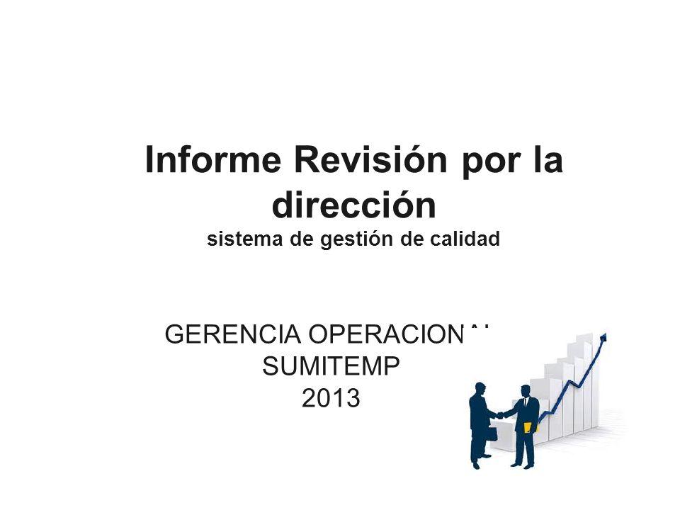 Informe Revisión por la dirección sistema de gestión de calidad