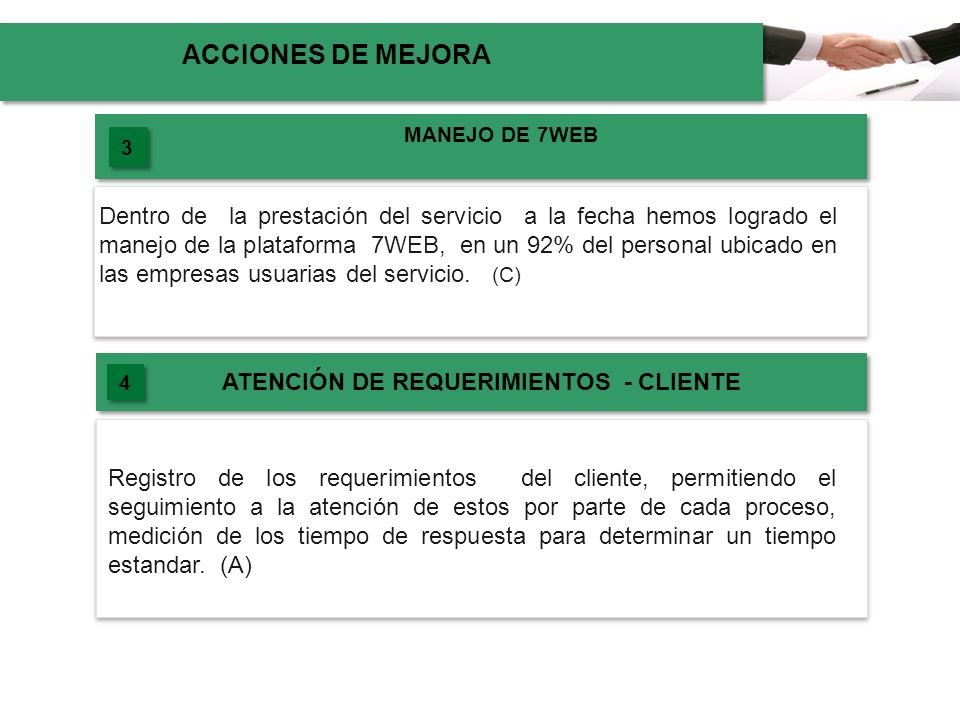 ATENCIÓN DE REQUERIMIENTOS - CLIENTE