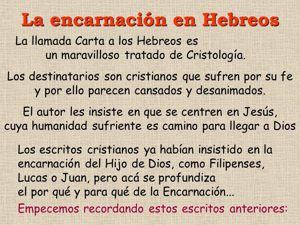 La encarnación en Hebreos