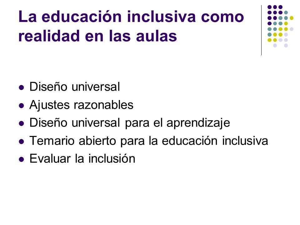 La educación inclusiva como realidad en las aulas
