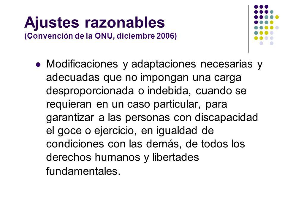 Ajustes razonables (Convención de la ONU, diciembre 2006)
