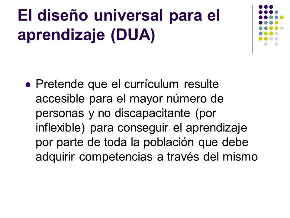 El diseño universal para el aprendizaje (DUA)