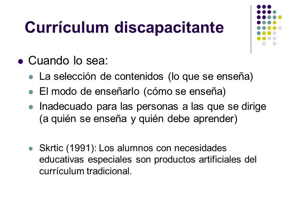 Currículum discapacitante