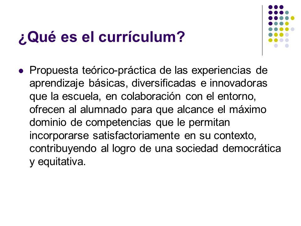 ¿Qué es el currículum