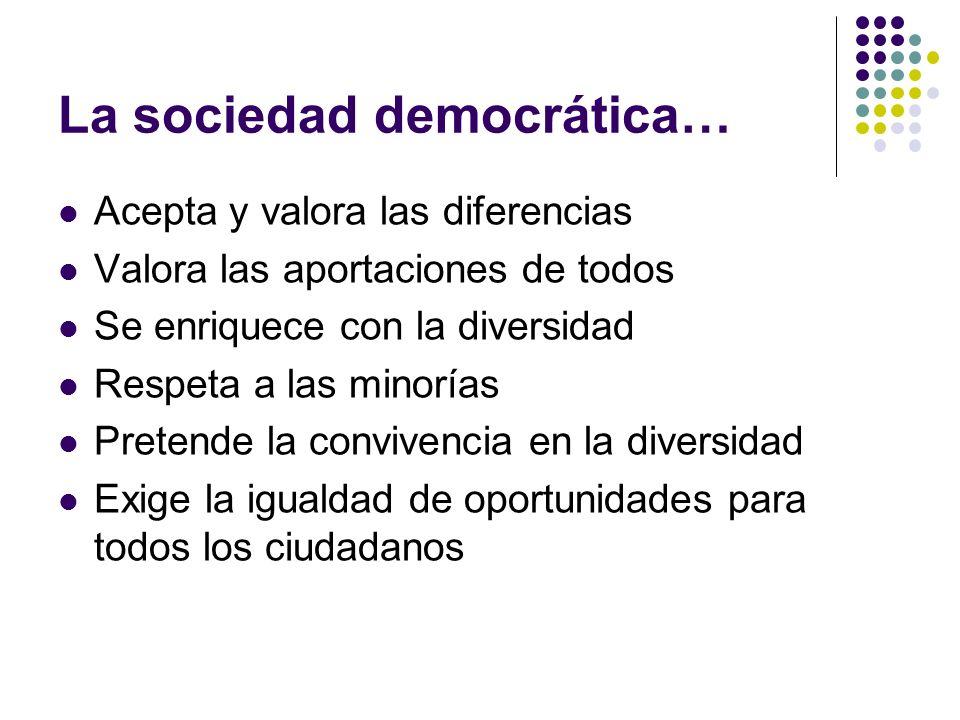 La sociedad democrática…