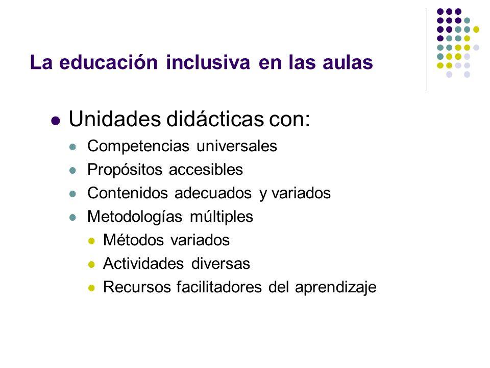 La educación inclusiva en las aulas