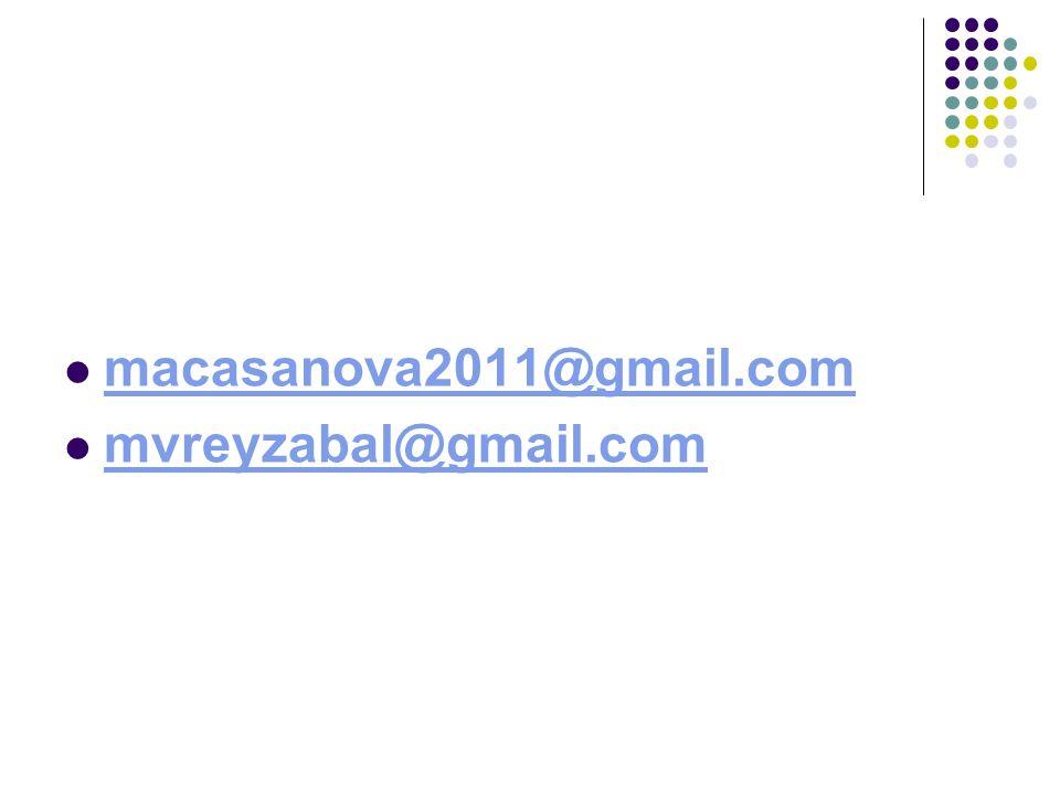 macasanova2011@gmail.com mvreyzabal@gmail.com