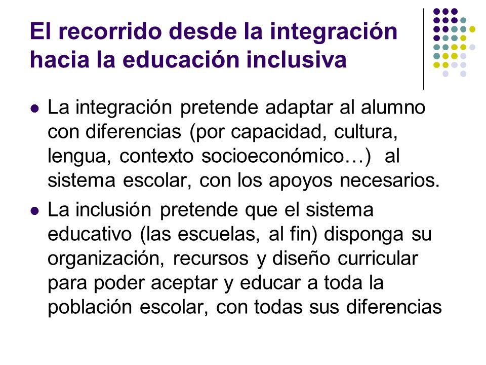 El recorrido desde la integración hacia la educación inclusiva