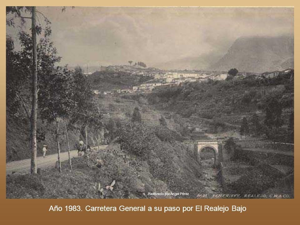 Año 1983. Carretera General a su paso por El Realejo Bajo