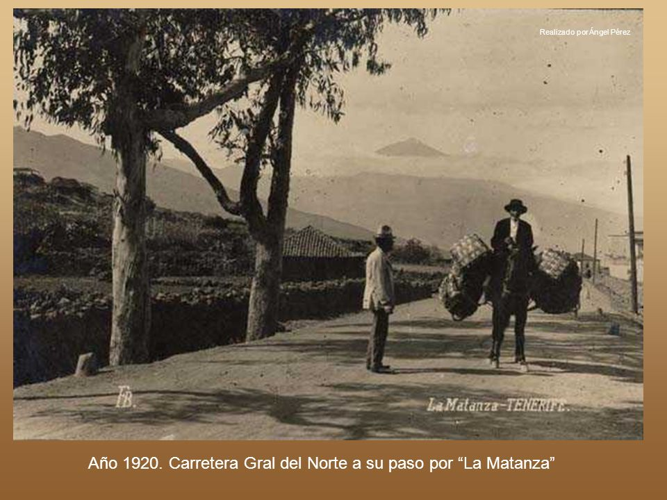 Año 1920. Carretera Gral del Norte a su paso por La Matanza