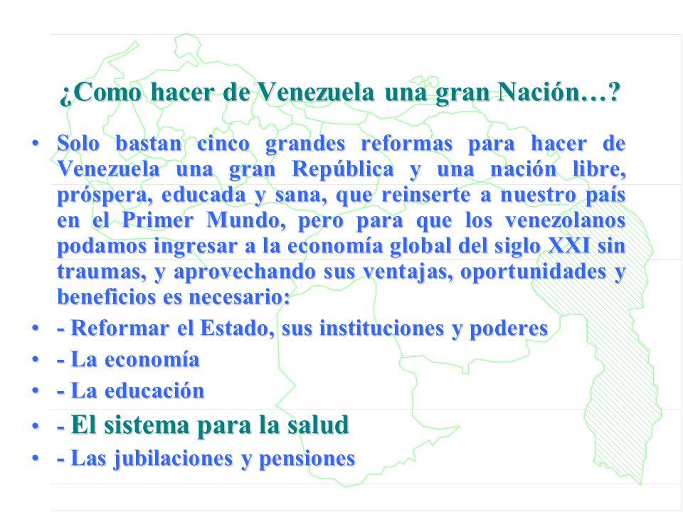 ¿Como hacer de Venezuela una gran Nación…