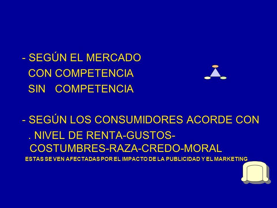 - SEGÚN LOS CONSUMIDORES ACORDE CON