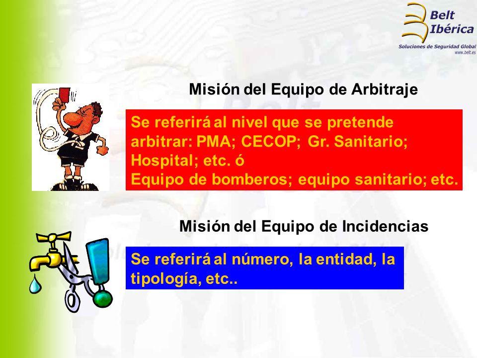 Misión del Equipo de Arbitraje Misión del Equipo de Incidencias