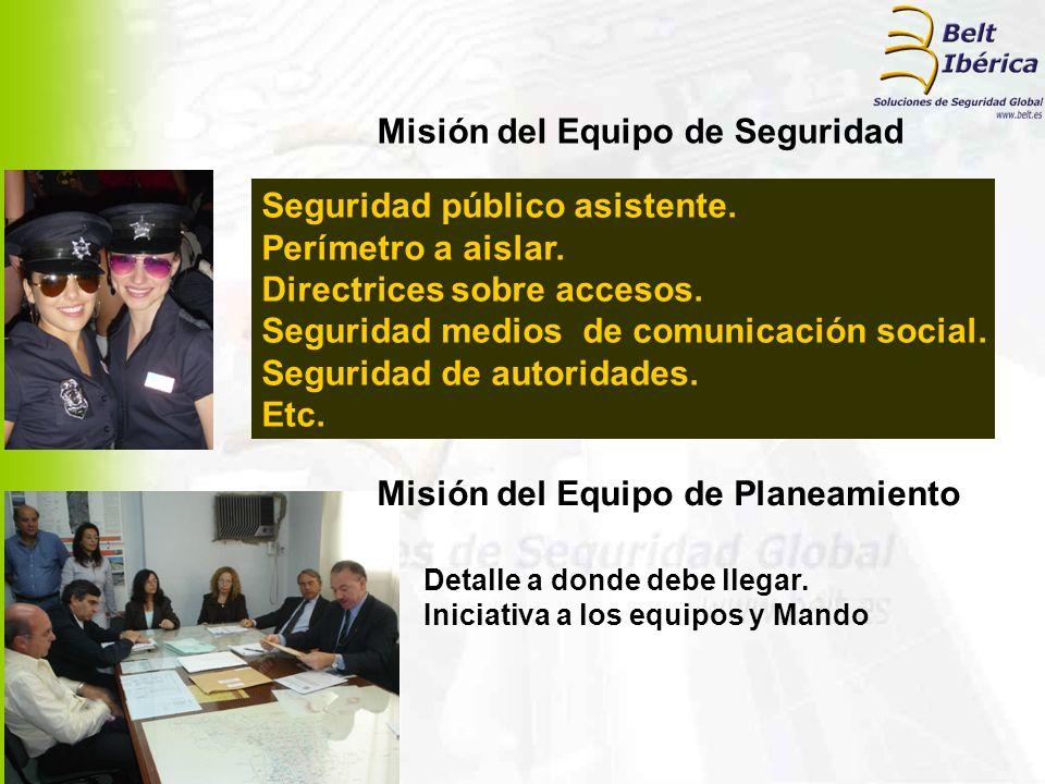 Misión del Equipo de Seguridad Misión del Equipo de Planeamiento