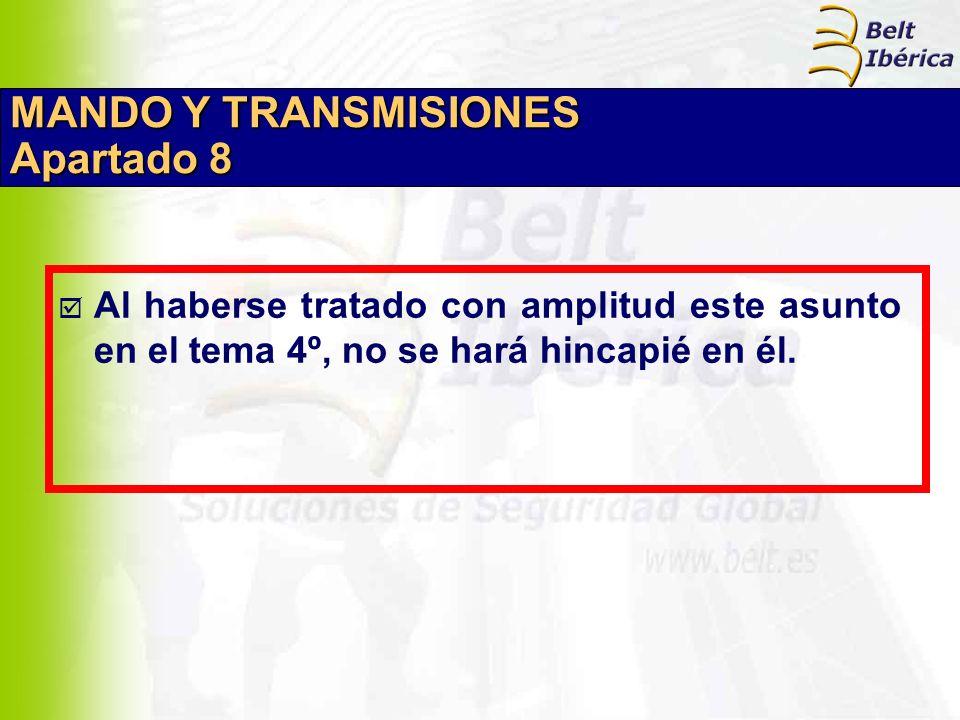 MANDO Y TRANSMISIONES Apartado 8