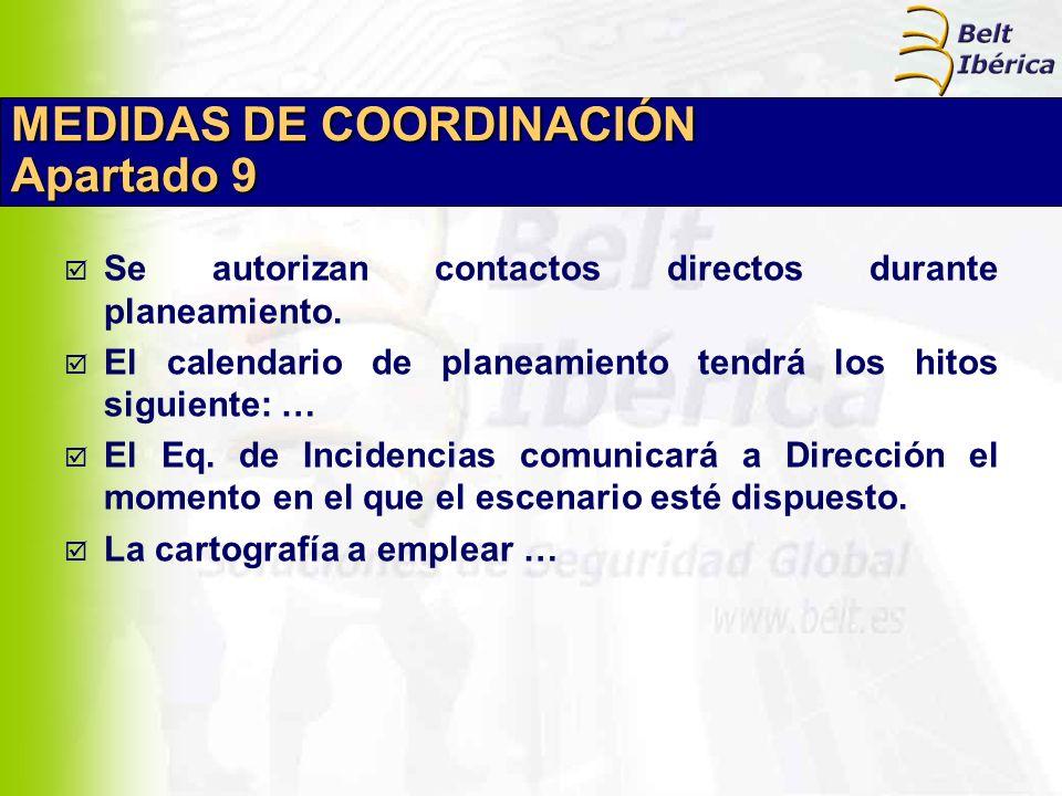 MEDIDAS DE COORDINACIÓN Apartado 9