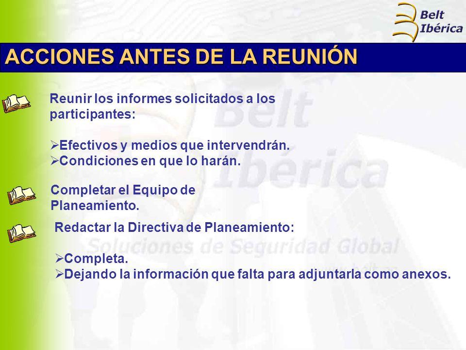ACCIONES ANTES DE LA REUNIÓN