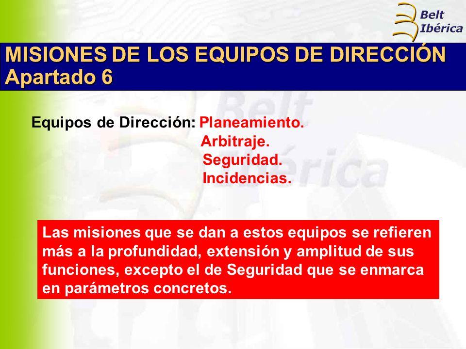 MISIONES DE LOS EQUIPOS DE DIRECCIÓN Apartado 6