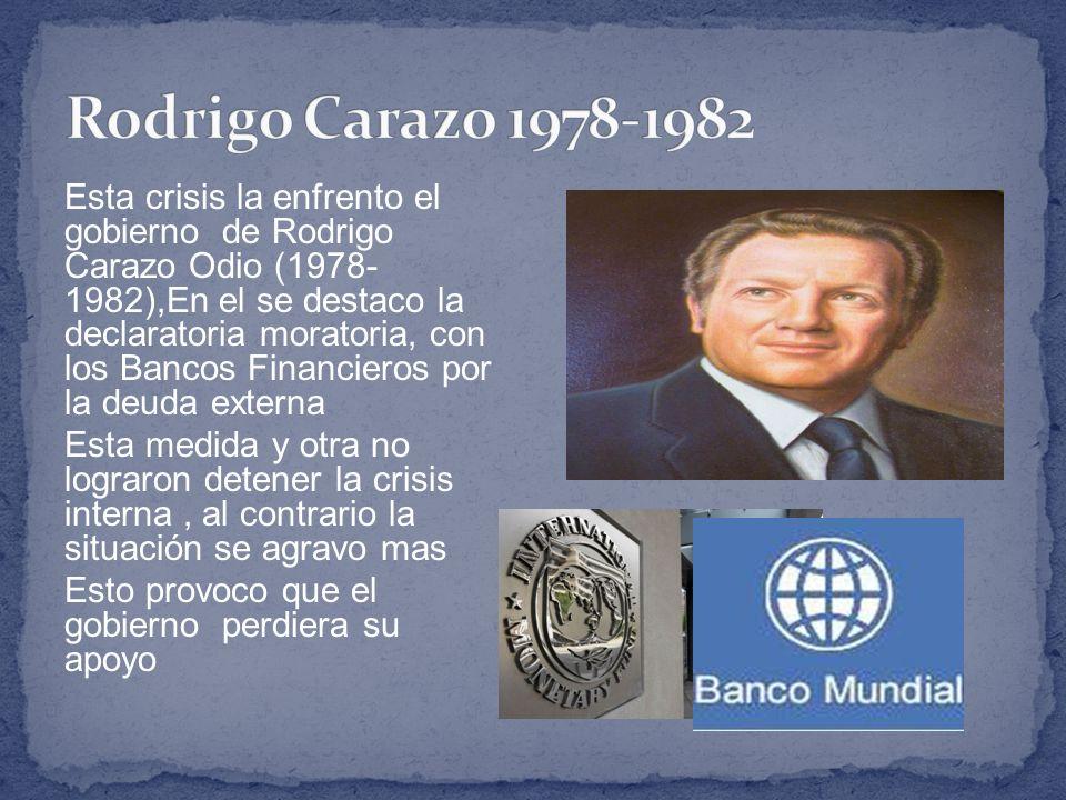 Rodrigo Carazo 1978-1982