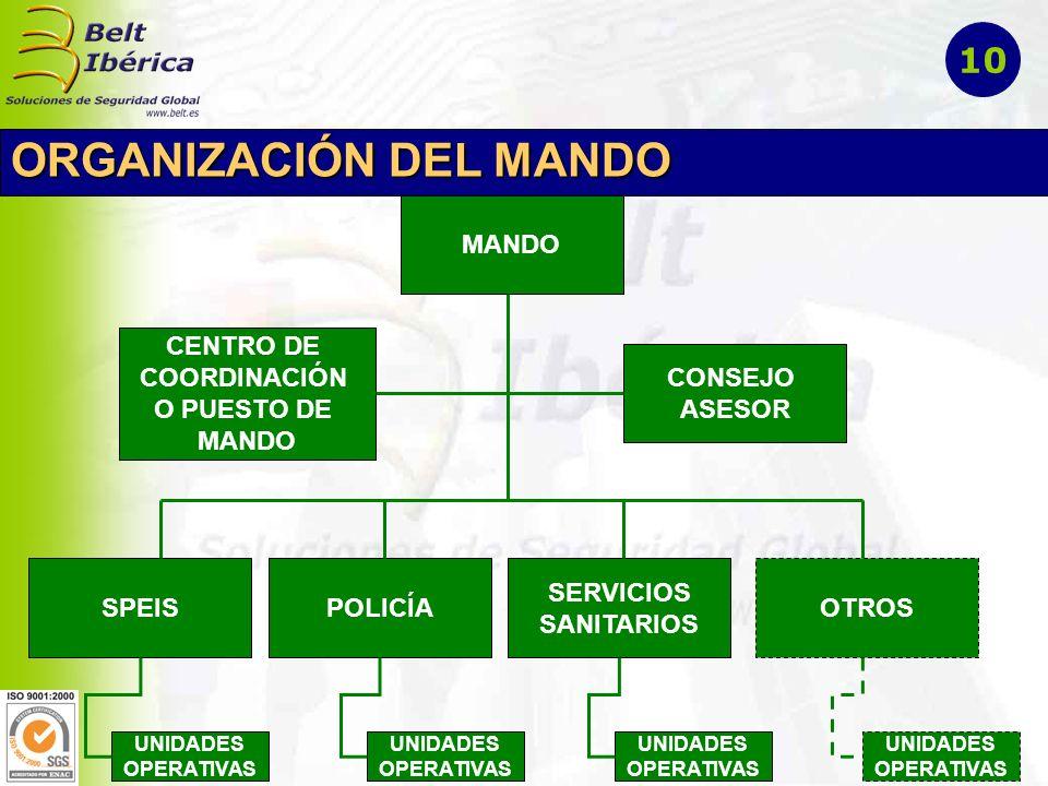 ORGANIZACIÓN DEL MANDO