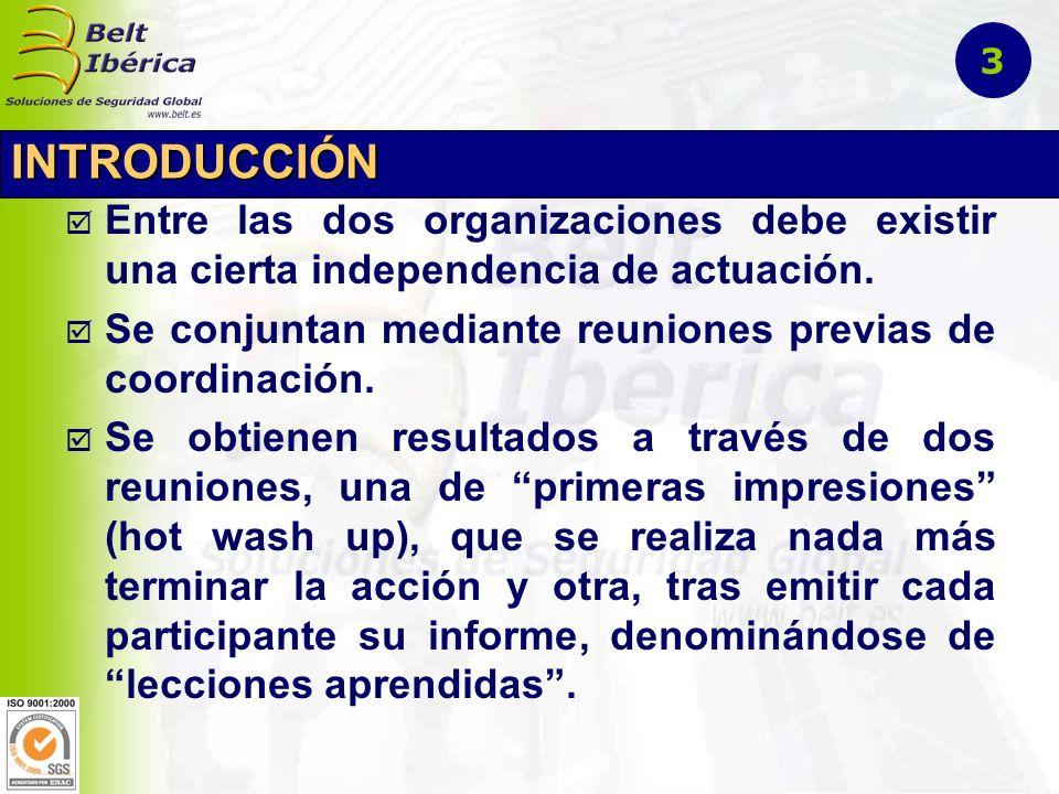 3 INTRODUCCIÓN. Entre las dos organizaciones debe existir una cierta independencia de actuación.