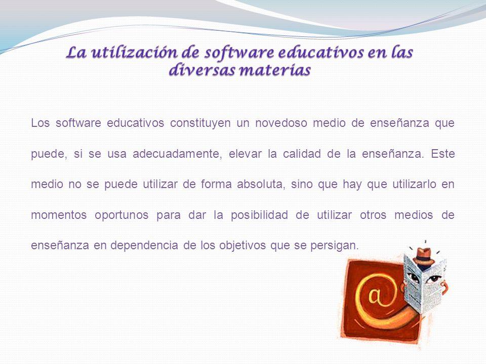 La utilización de software educativos en las diversas materias