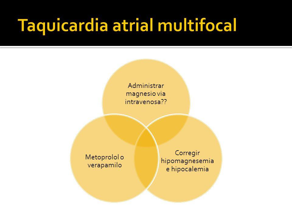 Taquicardia atrial multifocal