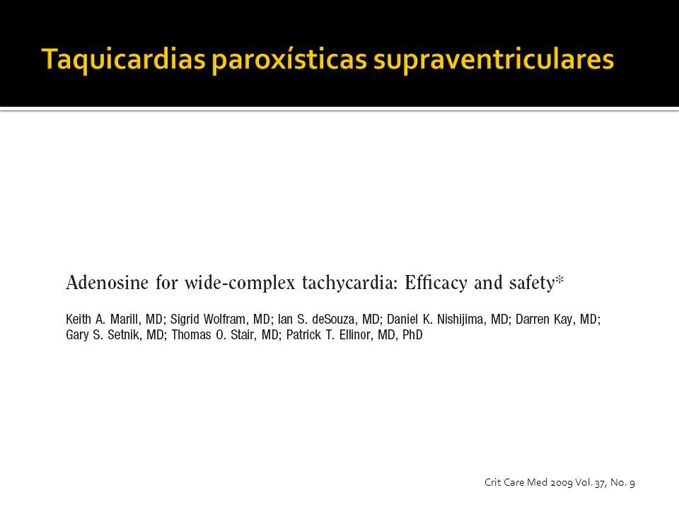 Taquicardias paroxísticas supraventriculares