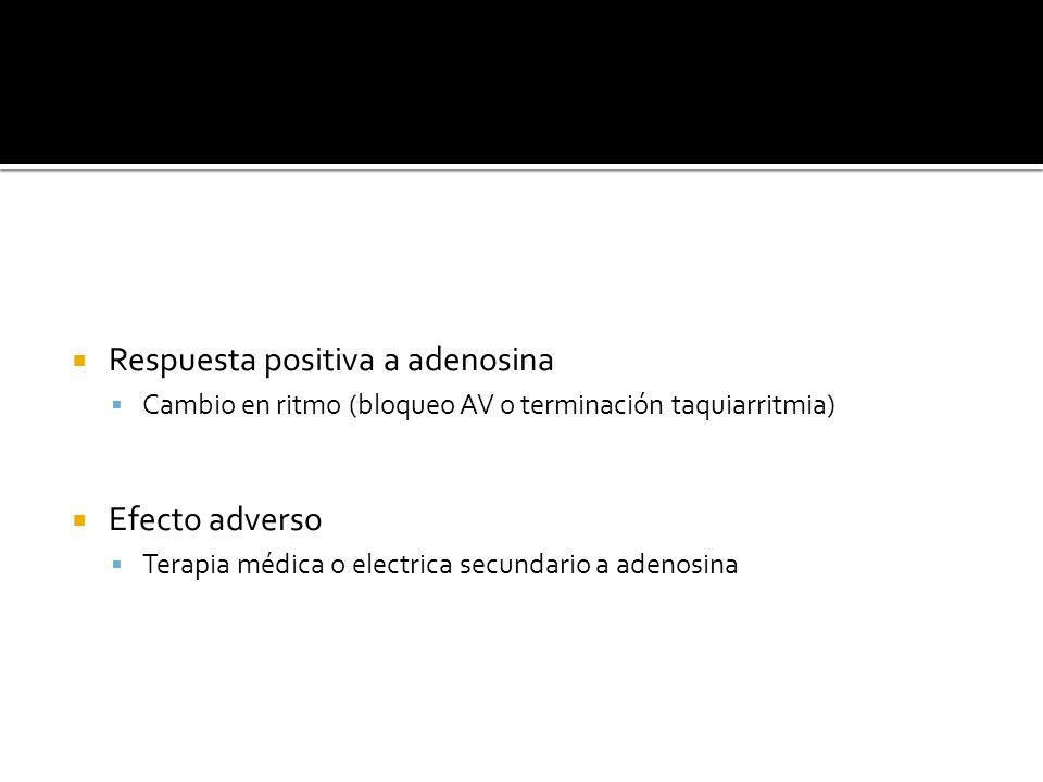 Respuesta positiva a adenosina