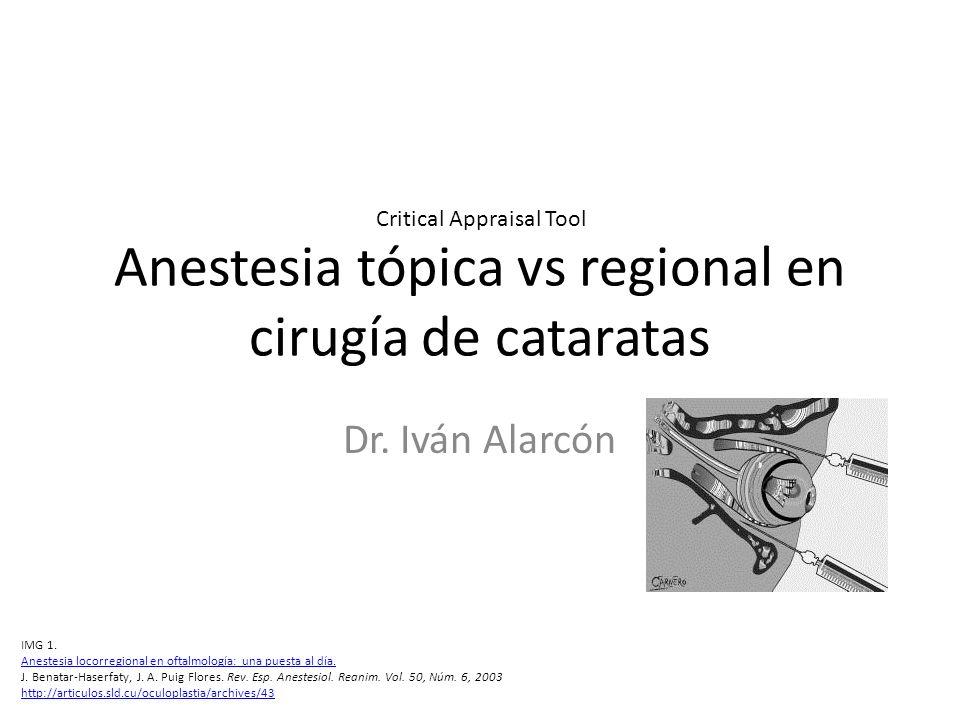 Anestesia tópica vs regional en cirugía de cataratas