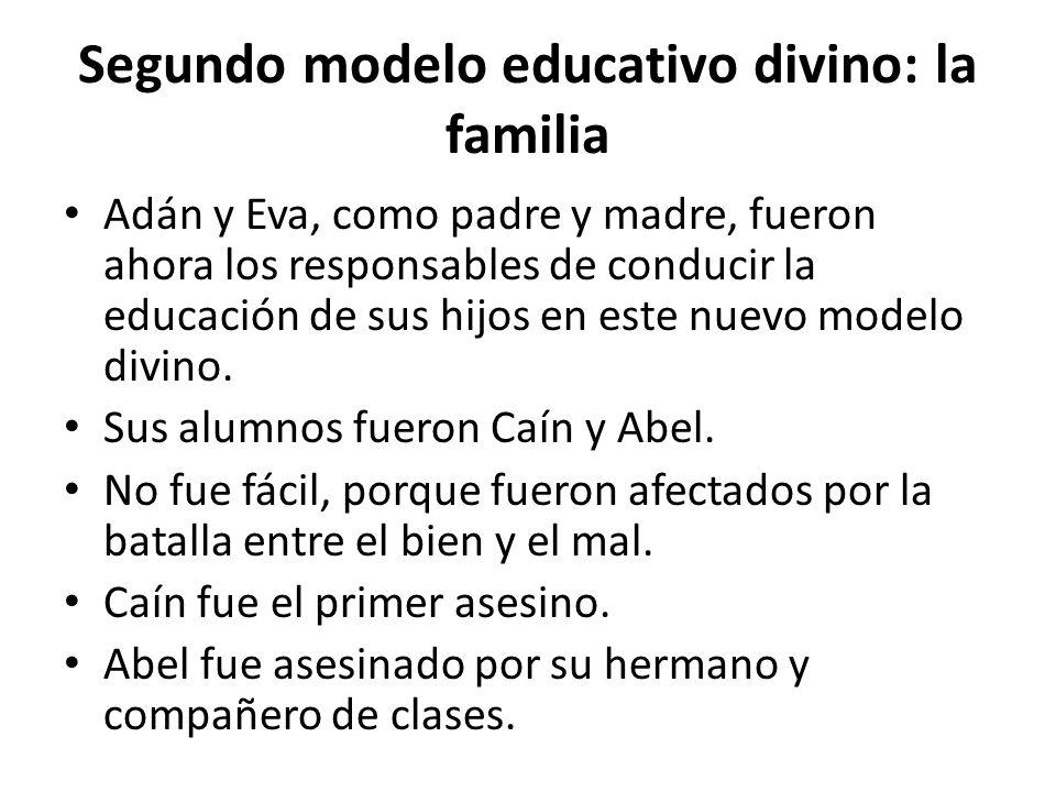 Segundo modelo educativo divino: la familia