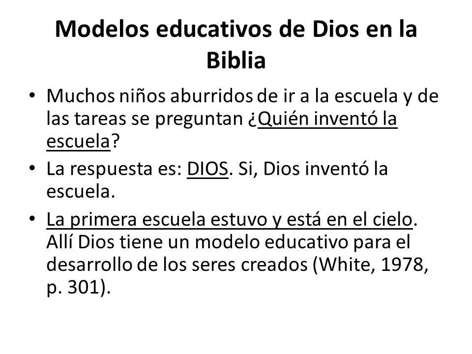 Modelos educativos de Dios en la Biblia