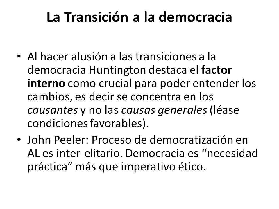 La Transición a la democracia