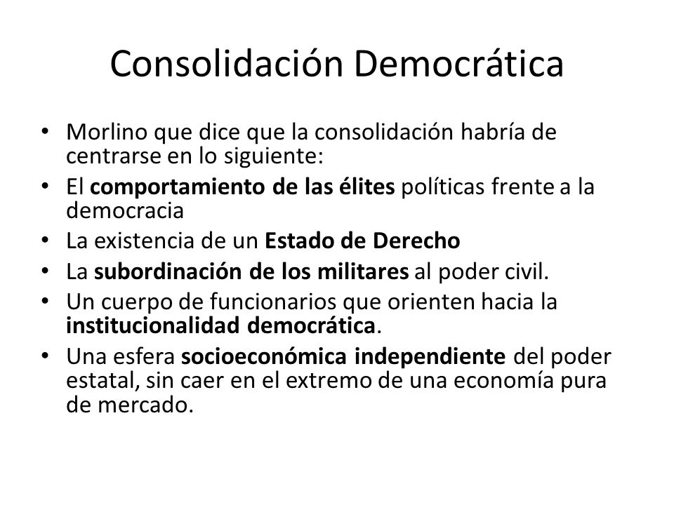 Consolidación Democrática