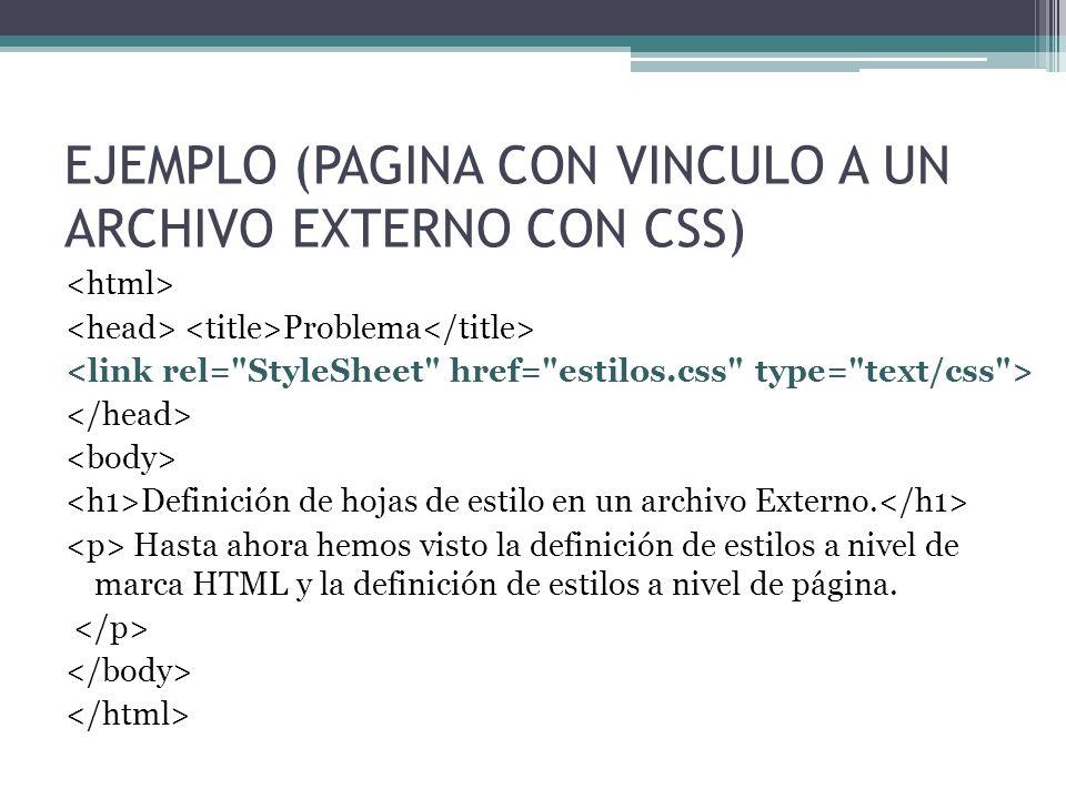 EJEMPLO (PAGINA CON VINCULO A UN ARCHIVO EXTERNO CON CSS)