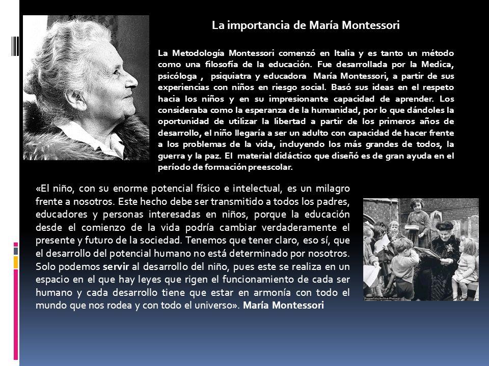 La importancia de María Montessori