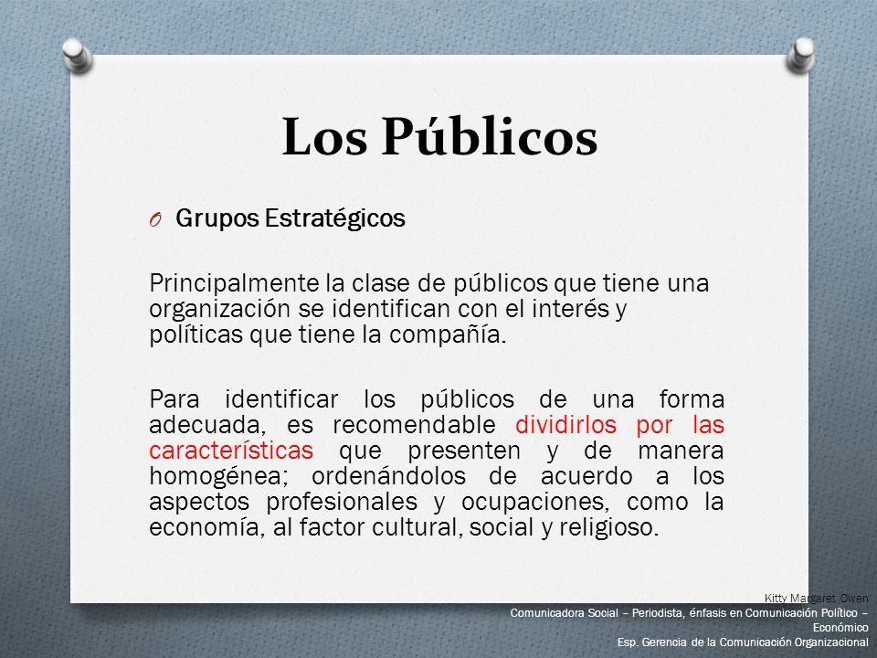 Los Públicos Grupos Estratégicos