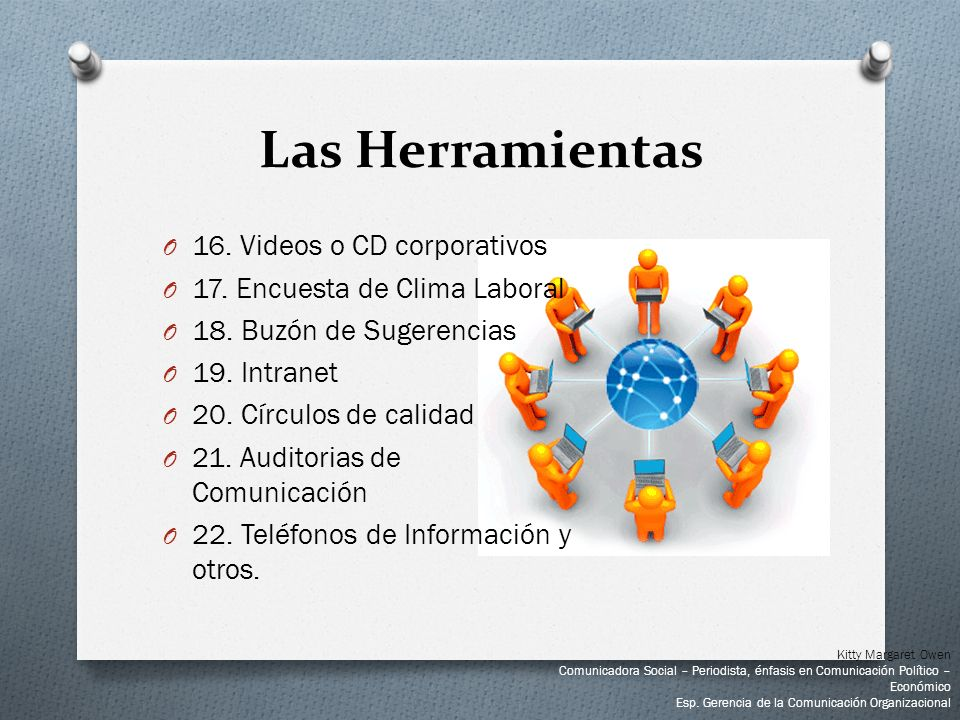 Las Herramientas 16. Videos o CD corporativos