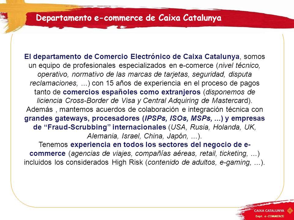 Departamento e-commerce de Caixa Catalunya