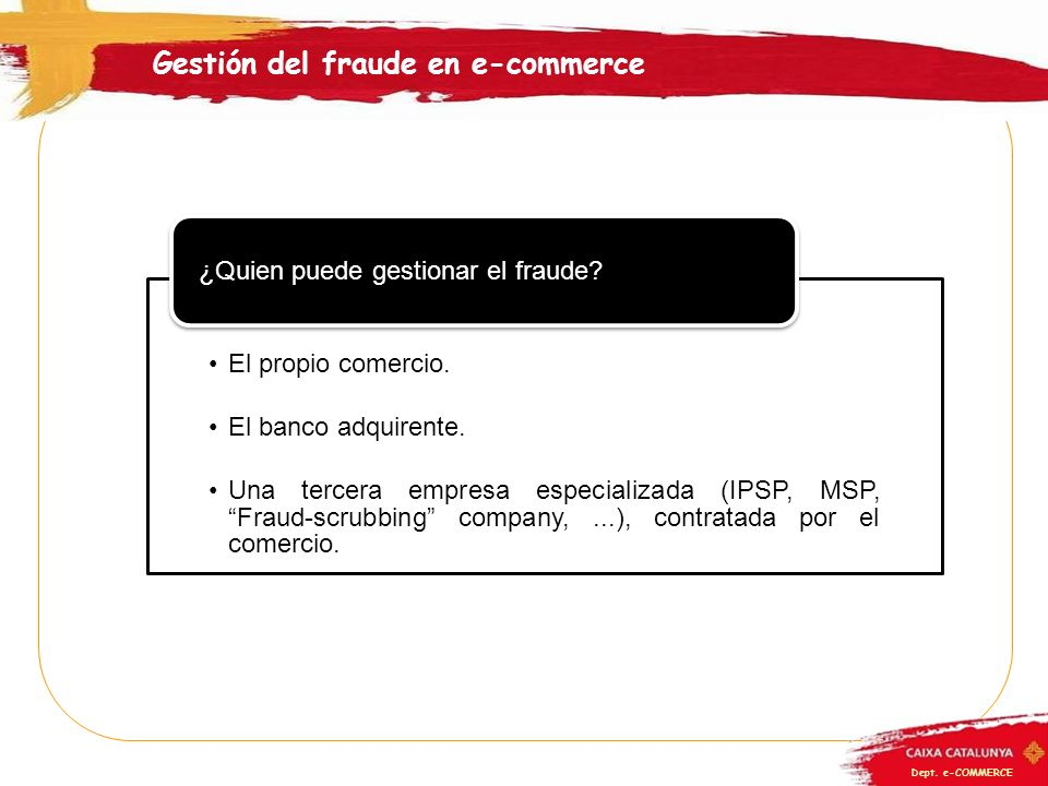 Gestión del fraude en e-commerce