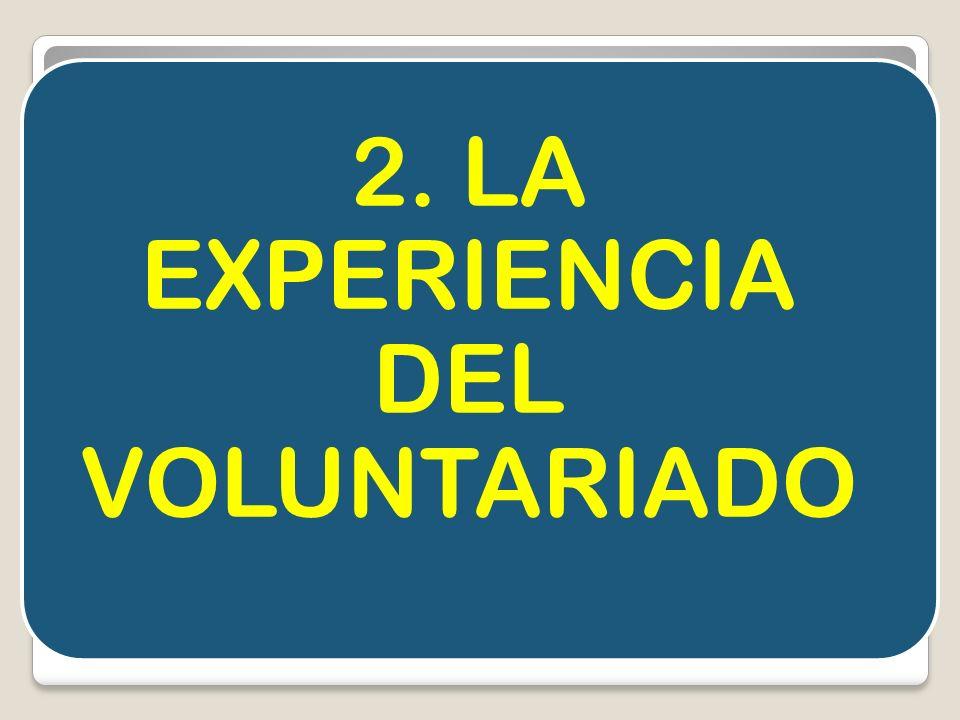 2. LA EXPERIENCIA DEL VOLUNTARIADO