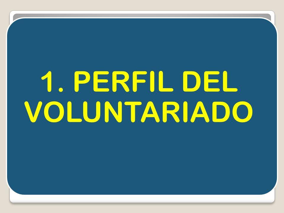 1. PERFIL DEL VOLUNTARIADO