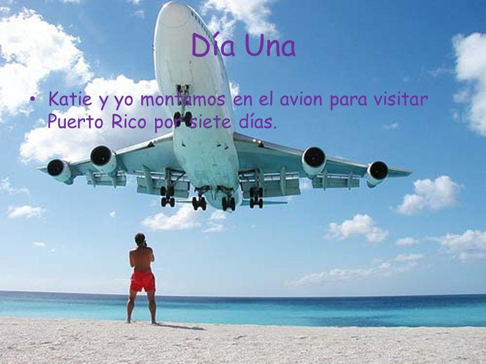 Día Una Katie y yo montamos en el avion para visitar Puerto Rico por siete días.