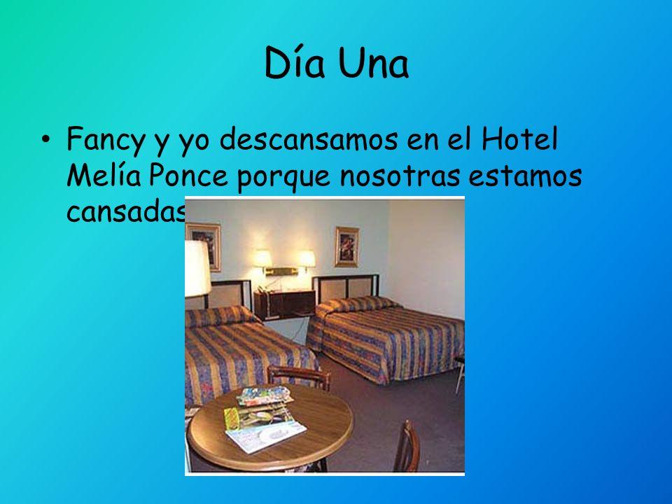 Día Una Fancy y yo descansamos en el Hotel Melía Ponce porque nosotras estamos cansadas.