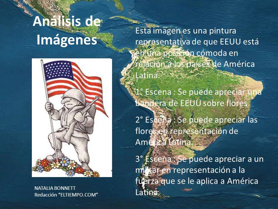 Esta imagen es una pintura representativa de que EEUU está en una posición cómoda en relación a los países de América Latina.