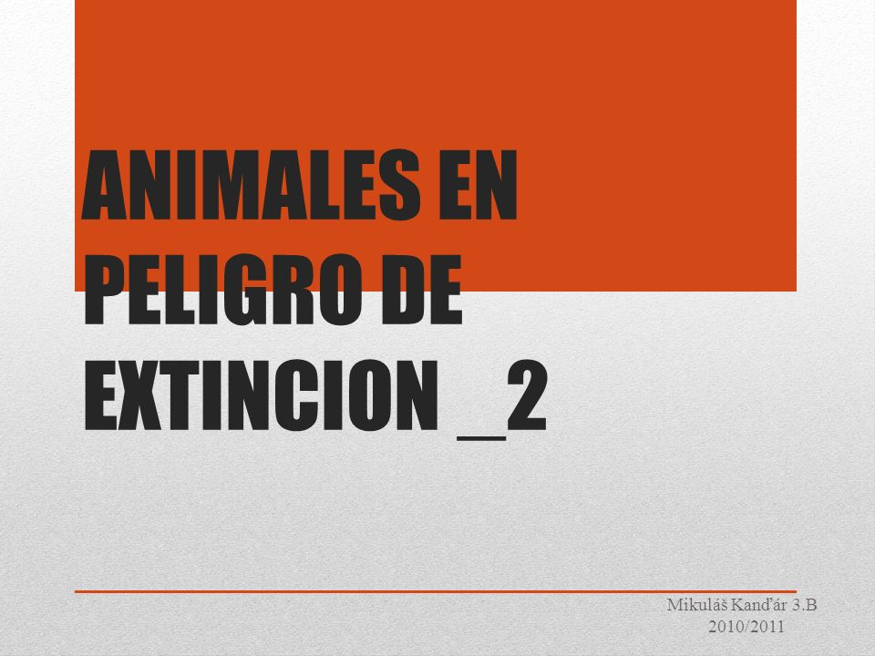 ANIMALES EN PELIGRO DE EXTINCION _2